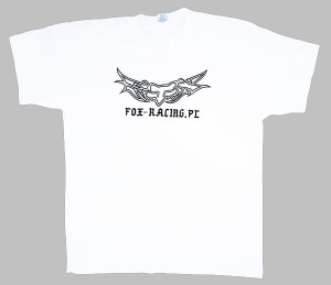 T-SHIRT FIRMOWY FOX-RACING.PL TATTOO white