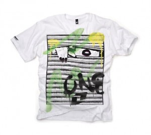 T-SHIRT ONE BLINDS white rozm. XL