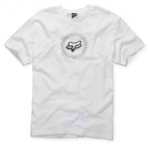 T-SHIRT FOX FLIGHT CREST  white XL