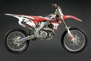 ZESTAW NAKLEJEK RETRO ACCELERATOR TEAM KIT CRF 250 (04-09)
