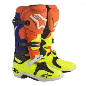 BUTY ALPINESTARS TECH 10 ORANGE FLUO/BLUE/WHITE/YELLOW