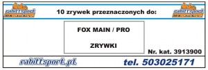 ZRYWKI DO GOGLI FOX Main 10stk