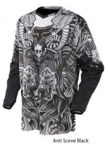 KOSZULKA FOX PLATINUM PRINT ANTISCENE black S,M,L