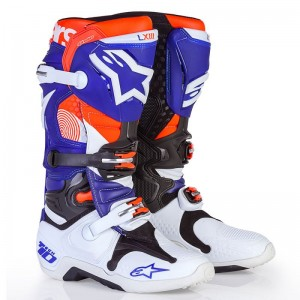 BUTY ALPINESTARS TECH 10 INDIANAPOLIS  white blue orange fluo